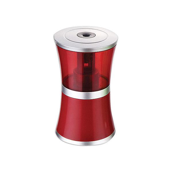 Купить Электрическая точилка Brauberg Office style, красная, Китай, красный/белый, Унисекс