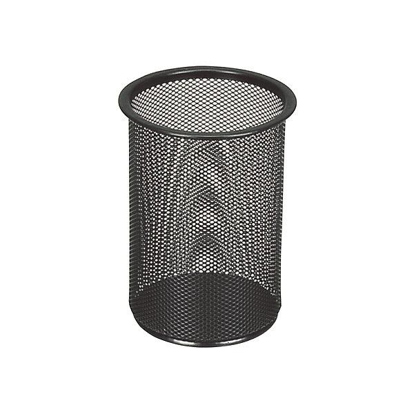 Подставка-органайзер Brauberg Germanium, чёрнаяПодставки для книг и лотки<br>Характеристики товара:<br><br>• материал: металл<br>• количество отделений: 1<br>• мягкая подушечка на дне<br>• размер: 15,8х12х12 см<br><br>Подставка в форме стаканчика с сетчатыми стенками. Используется дома, в школе или в офисе. Предназначена для хранения письменных и других канцелярских аксессуаров.