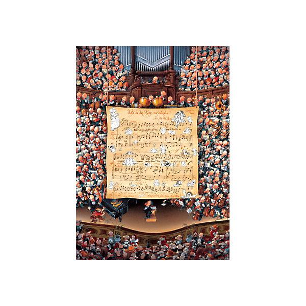 Пазл Heye Classics Партитура для оркестра, 1000 деталейПазлы классические<br>Характеристики:<br><br>• серия: Classics<br>• количество деталей: 1000<br>• размер собранного пазла: 68х48 см<br>• страна бренда: Германия<br><br>Уровень сложности пазла подходит для продвинутых сборщиков. Каждый элемент отличается яркостью и высокой детализацией картинки. Готовым пазлом можно украсить интерьер, поместив его в раму. Детали плотно прилегают друг к другу, делая картину более цельной.