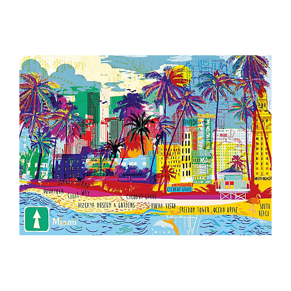 HEYE Пазл Heye Я люблю Майами, 1000 деталей пазл девушка с золотыми украшениями heye 1000 деталей