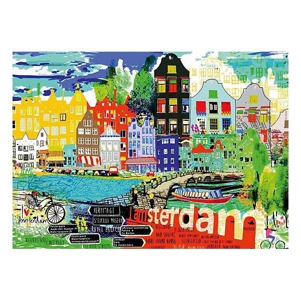 Пазл Heye McCall Я люблю Амстердам, 1000 деталейПазлы классические<br>Характеристики:<br><br>• автор: Kitty McCal<br>• количество деталей: 1000<br>• размер собранного пазла: 50х70 см<br>• страна бренда: Германия<br><br>Уровень сложности пазла подходит для продвинутых сборщиков. Каждый элемент отличается яркостью и высокой детализацией картинки. Готовым пазлом можно украсить интерьер, поместив его в раму. Детали плотно прилегают друг к другу, делая картину более цельной.