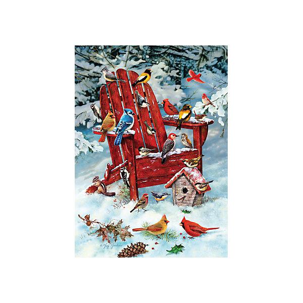 Пазл Cobble Hill Jack Pine Птицы зимой, 1000 деталейПазлы классические<br>Характеристики:<br><br>• серия: Jack Pine<br>• количество деталей: 1000<br>• размер собранного пазла: 49х68 см<br>• страна бренда: США<br><br>Пазл для продвинутых сборщиков. Детали с ярким и четким рисунком плотно соединяются друг с другом, создавая целостное изображение. Готовую картину можно поместить в раму и украсить ей интерьер. Сборка пазла способствует расслаблению и тренирует внимательность. Изготовлено из качественных материалов.