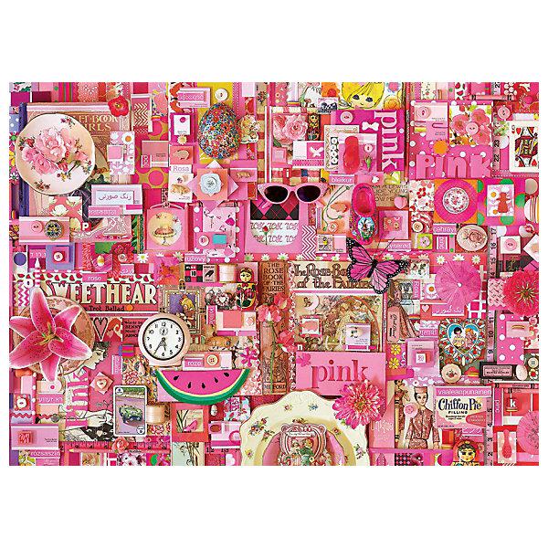 Пазл Cobble Hill Розовый, 1000 деталейПазлы классические<br>Характеристики:<br><br>• серия: Цвета радуги<br>• количество деталей: 1000<br>• размер собранного пазла: 49х68 см<br>• страна бренда: США<br><br>Пазл для продвинутых сборщиков. Детали с ярким и четким рисунком плотно соединяются друг с другом, создавая целостное изображение. Готовую картину можно поместить в раму и украсить ей интерьер. Сборка пазла способствует расслаблению и тренирует внимательность. Изготовлено из качественных материалов.