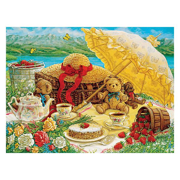 Пазл Cobble Hill Пикник с плюшевым мишкой, 500 деталейПазлы классические<br>Характеристики:<br><br>• количество деталей: 500<br>• размер собранного пазла: 61х45,7 см<br>• страна бренда: США<br><br>Уровень сложности пазла подходит для новичков и любителей. Красочное изображение состоит из элементов с аккуратными краями и четким рисунком. Детали вплотную прилегают друг к другу. Картину можно поместить в раму и повесить на стену. Занятия с пазлом расслабляют, тренируют внимательность. Сделано из качественных материалов.