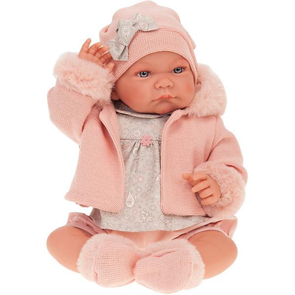 Munecas Antonio Juan Кукла Наталия в розовом, 40 см