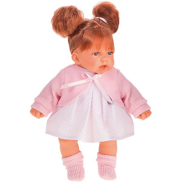 Munecas Antonio Juan Кукла Дели в розовом, озвученная, 27 см