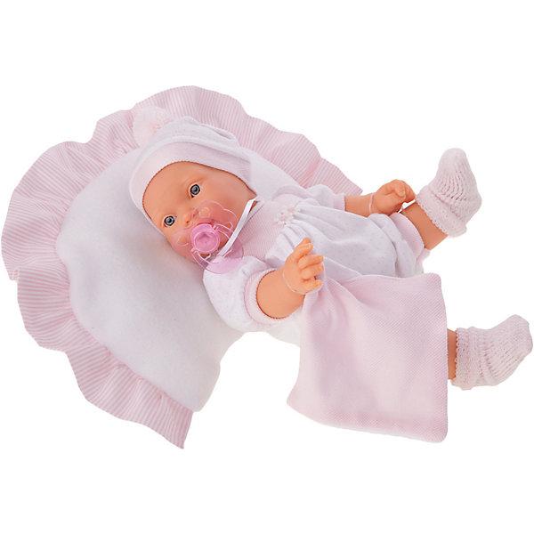 Кукла Munecas Antonio Juan Химена в розовом, плачет, 27 см, Испания, розовый, Женский  - купить со скидкой