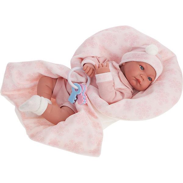 Кукла Munecas Antonio Juan Антония в розовом, 40 см фото