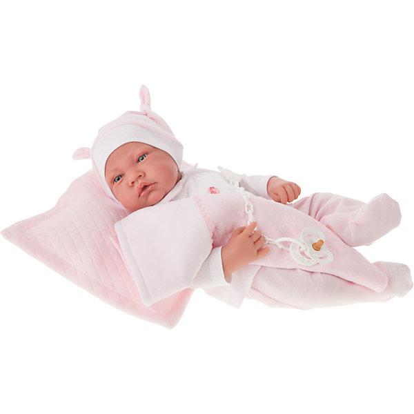 Кукла Munecas Antonio Juan Жоанна в розовом, озвученная, 40 см, Розовый