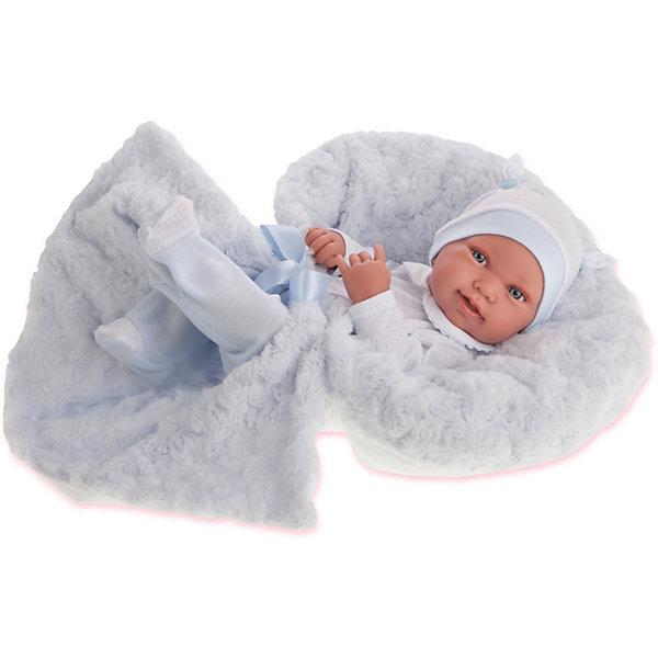 Munecas Antonio Juan Кукла-младенец Эдуардо в голубом, 42 см
