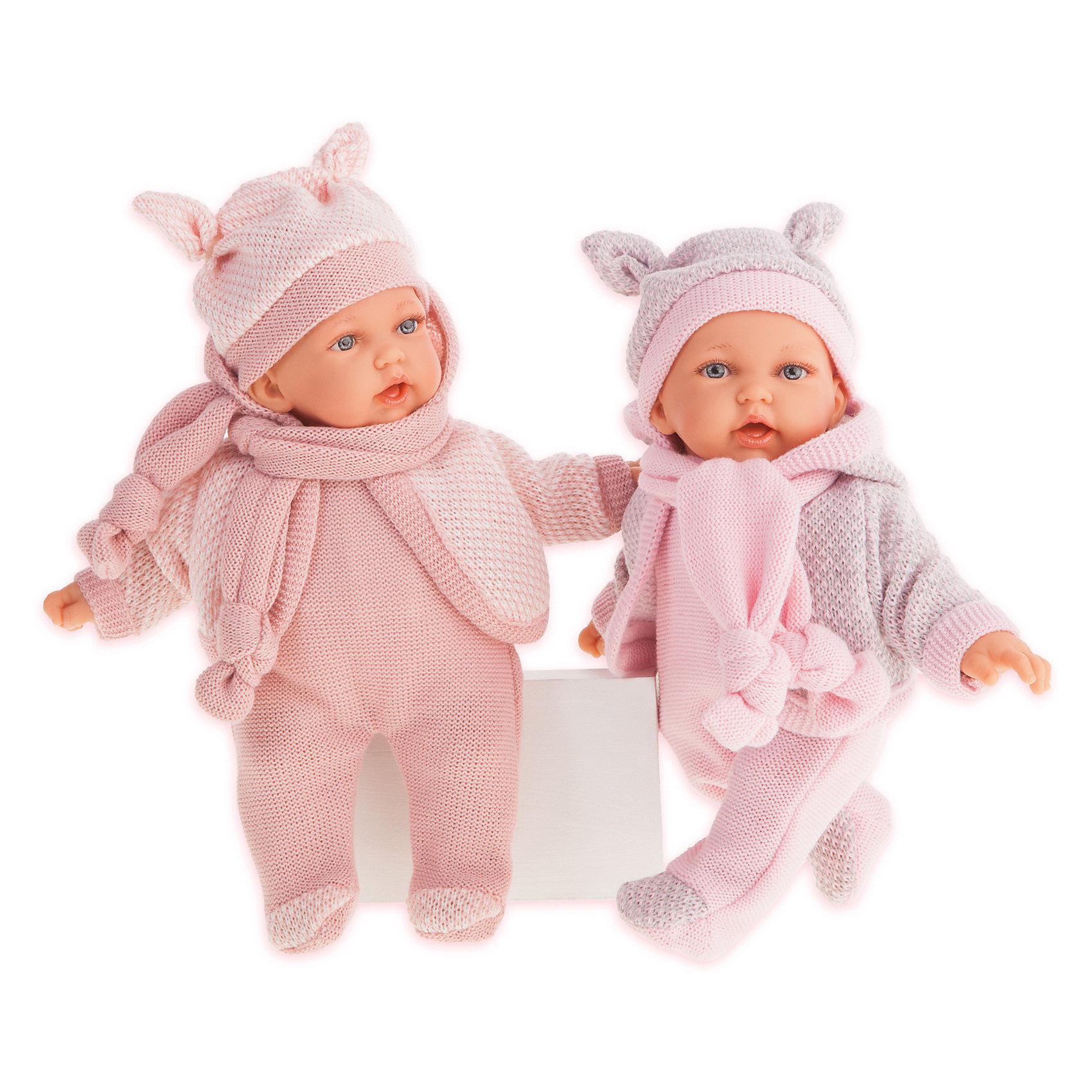 Кукла Munecas Antonio Juan Ромина в розовом, озвученная, 27 см