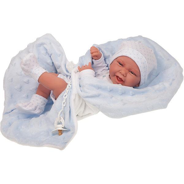 Купить Кукла-младенец Munecas Antonio Juan Матео в голубом, 42 см, Испания, голубой, Женский