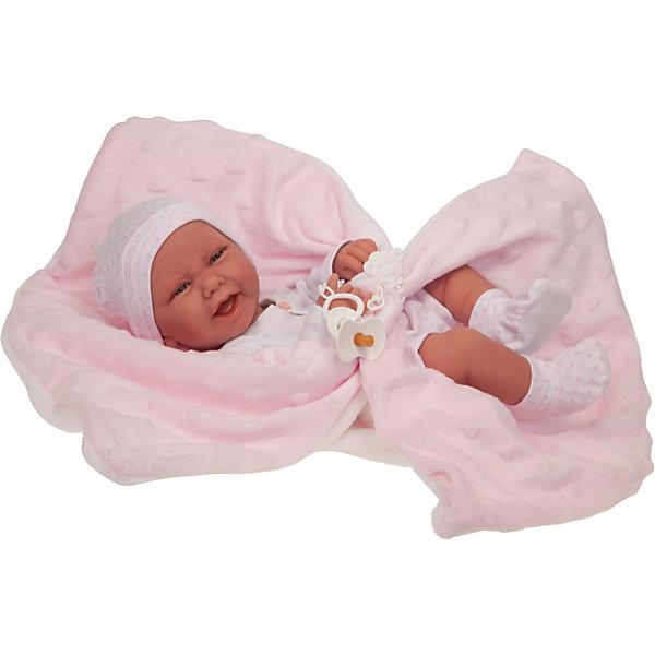 Munecas Antonio Juan Кукла-младенец Ирен в розовом, 42 см
