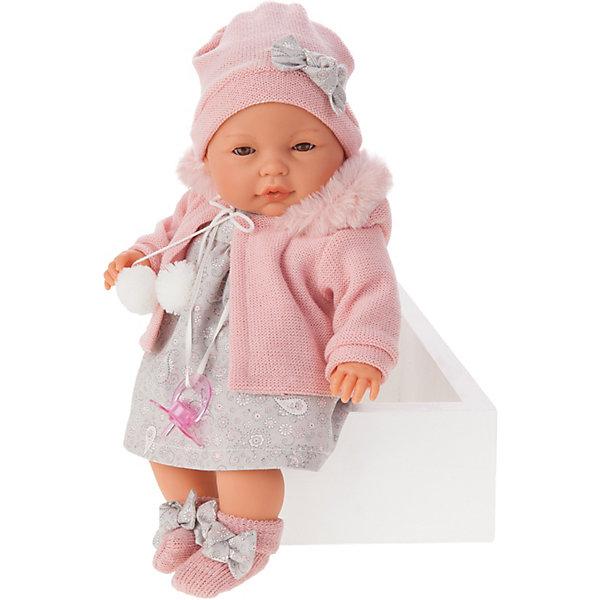 Купить Кукла Munecas Antonio Juan Хуана, плачет, 37 см, Испания, розовый, Женский