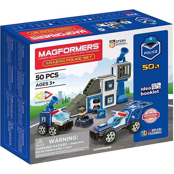 Купить Магнитный конструктор Magformers Amazing Police Set, Китай, Унисекс