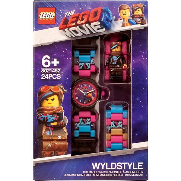лучшая цена LEGO Часы наручные LEGO Movie 2 с минифигурой Wyldstyle