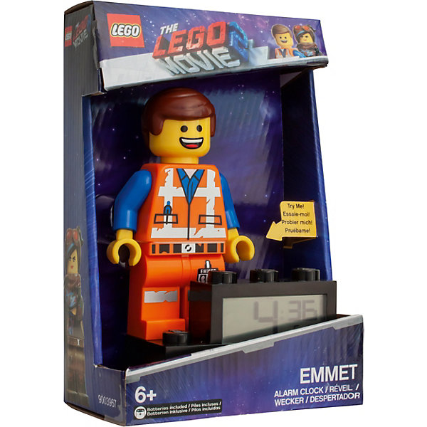 лучшая цена LEGO Будильник LEGO Movie 2 , минифигура Emmet