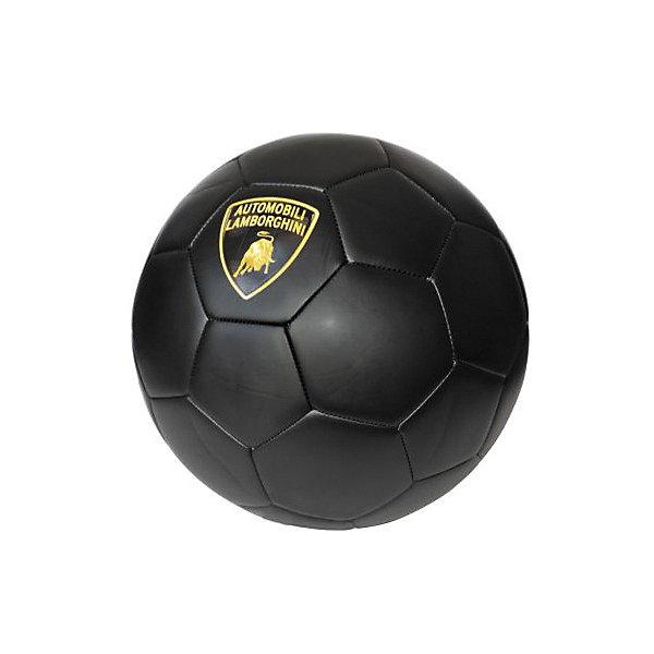 Футбольный мяч Lamborghini, 22 см, черныйСпортивные мячи<br>Характеристики:<br><br>• поверхность: матовая<br>• материал: термопластичный полиуретан 4 мм<br>• камера с обмоткой<br>• размер: 5<br>• диаметр: 22 см<br>• вес: 430 гр<br>• страна бренда: Италия<br><br>Футбольный мяч прочный и долговечный. Он хорошо реагирует на удары. Дополнительные три подкладочных слоя позволяют мячу сохранять форму. Прошивка машинная. Декорирован логотипом бренда.