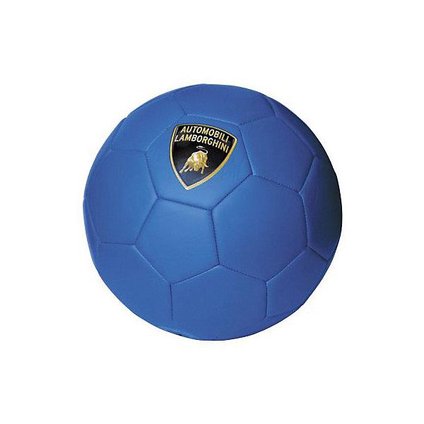 Футбольный мяч Lamborghini, 22 см, синийСпортивные мячи<br>Характеристики:<br><br>• поверхность: матовая<br>• материал: термопластичный полиуретан 4 мм<br>• камера с обмоткой<br>• размер: 5<br>• диаметр: 22 см<br>• вес: 430 гр<br>• страна бренда: Италия<br><br>Футбольный мяч прочный и долговечный. Он хорошо реагирует на удары. Дополнительные три подкладочных слоя позволяют мячу сохранять форму. Прошивка машинная. Декорирован логотипом бренда.