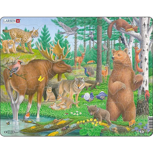 Larsen Пазл Larsen Лесные животные пазл best toys животные 6 элементов