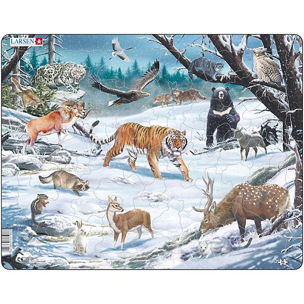 Larsen Пазл Larsen Животные Сибири и Дальнего Востока пазл best toys животные 6 элементов