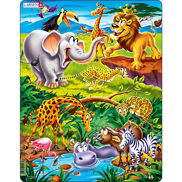 Larsen Пазл Larsen Животные сафари пазл best toys животные 6 элементов