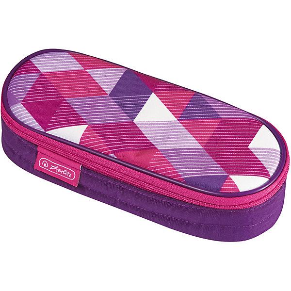 herlitz Пенал-косметичка Polina Case Pink Cubes herlitz пенал косметичка polina case pink cubes