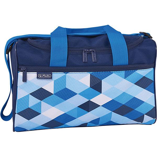 herlitz Спортивная сумка Herlitz XL, Blue Cubes
