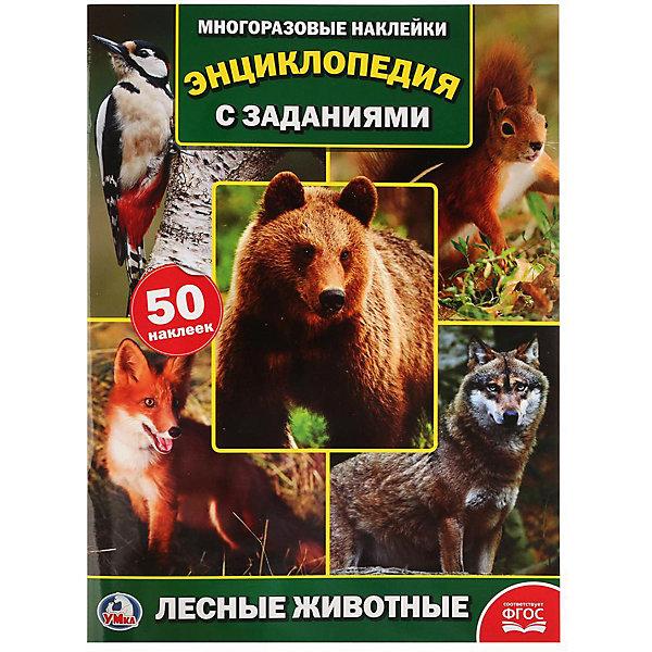 Купить Энциклопедия с наклейками А4 Лесные животные , Умка, Россия, Унисекс