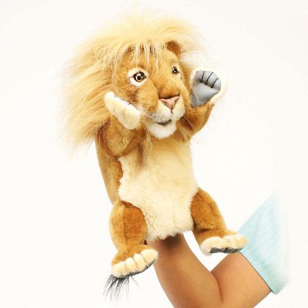 Купить Игрушка на руку Hansa «Лев», 28 см, Филиппины, оранжевый, Унисекс