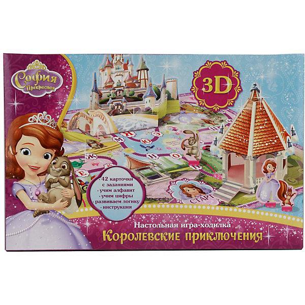Умка Настольная 3D игра-ходилка Дисней София