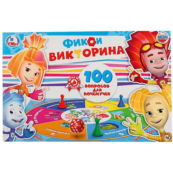 Умка Настольная игра Викторина 100 вопросов Фиксики