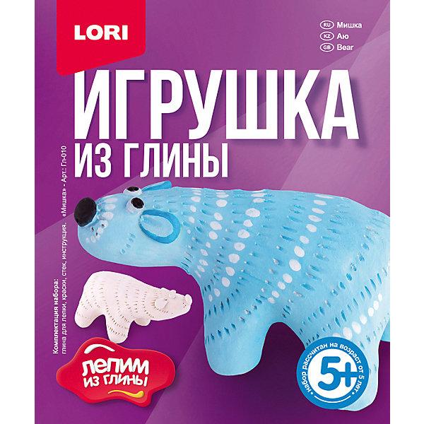 """Набор для лепки Lori """"Игрушка из глины"""" Мишка разноцветного цвета"""