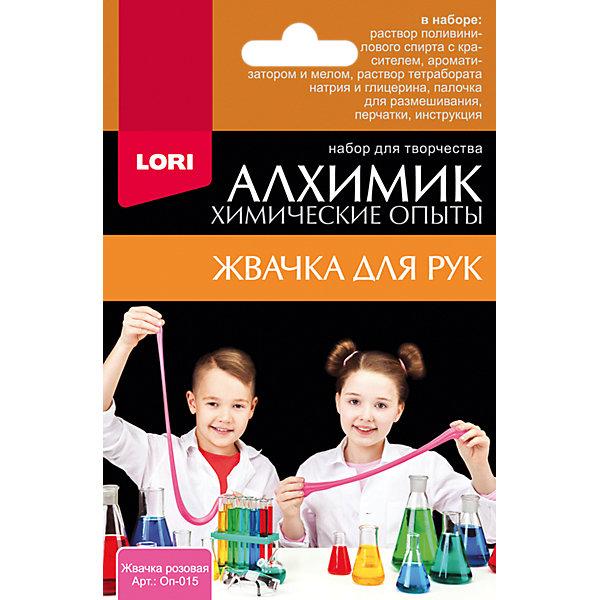 Купить Химические опыты Lori Алхимик Жвачка для рук, розовая, Россия, разноцветный, Унисекс