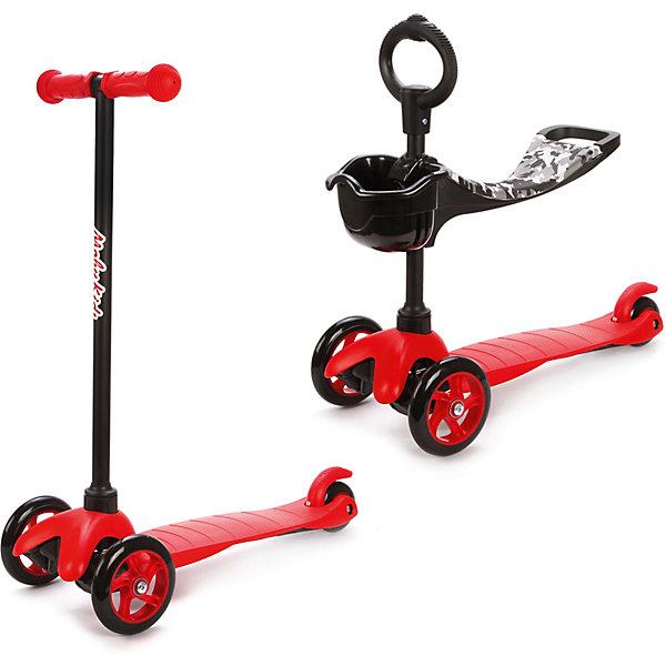 Купить Трехколесный самокат Наша игрушка 2в1 Moby kids, красный, Китай, Унисекс