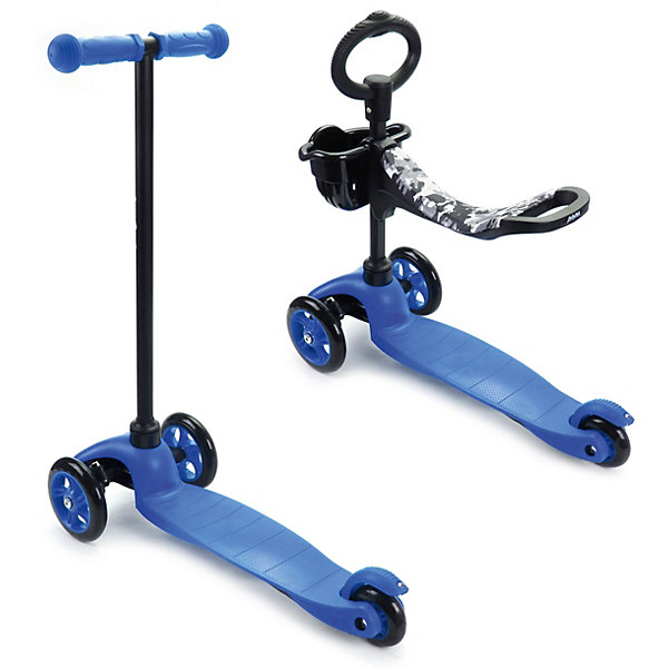 Купить Трехколесный самокат Наша игрушка 2в1 Moby kids, синий, Китай, Унисекс