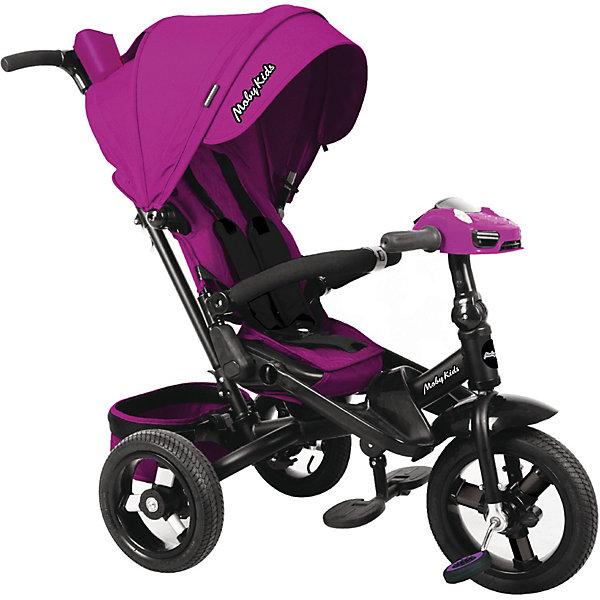 Купить Трехколесный велосипед Moby Kids New Leader 360° 12x10 AIR Car, ягодно-пурпурный, Китай, лиловый, Унисекс