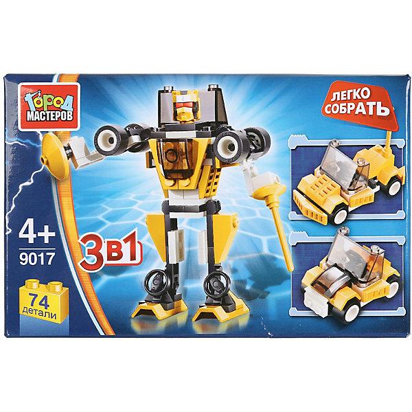 Купить Конструктор Город Мастеров «Робот 3-в-1», 74 детали, Город мастеров, Китай, разноцветный, Мужской