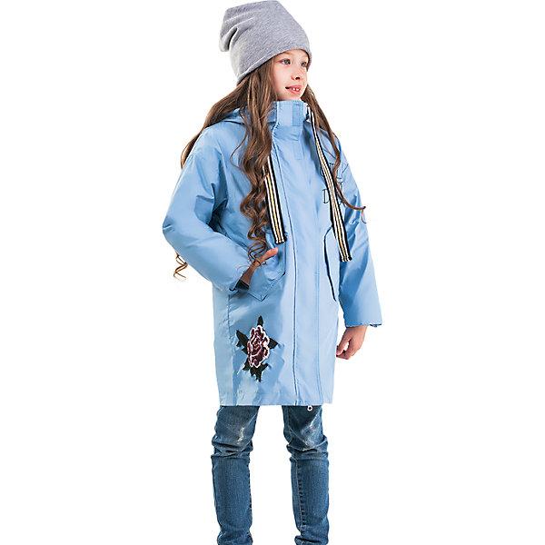 Куртка  BOOM by Orby для девочкиВерхняя одежда<br>Характеристики товара:<br><br>• ткань верха: полиэстер (твил)<br>• подстежка: полиэстер пухосодержащий<br>• утеплитель: Flexy Fiber 150 г/м2<br>• сезон: демисезон<br>• температурный режим: от -5 до +10°С<br>• с капюшоном<br>• на молнии<br>• страна бренда: Россия<br><br>Куртка-трансформер 2 в 1 станет любимой одеждой в первые заморозки осенью или в оттепель весной. Изделие можно носить вместе или отдельно друг от друга. Верхняя часть - парка, нижняя - стеганый пуховик без капюшона.