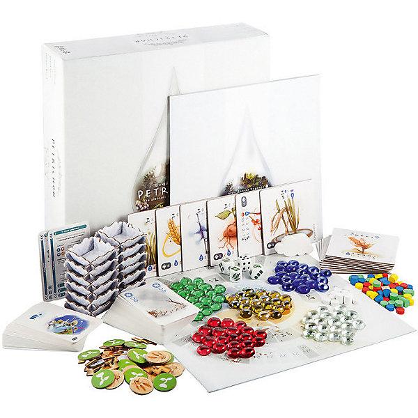 Настольная игра Фабрика игр ПетрикорДля всей семьи<br>Характеристики:<br><br>• материал: картон<br>• в комплекте: 3 кубика урожая, обычный шестигранный кубик, 4 памятки игрока, 16 жетонов роста, 12 жетонов пшеницы, 12 картонных облаков, 12 жетонов грозы, 9 карт для соло игры, маркер первого игрока, маркер раунда, 4 жетона, 16 полей, 40 карт погоды, 80 стеклянных капель, 56 деревянных дисков, правила игры<br>• количество игроков: 1-4<br>• время игры: 20 минут<br>• страна бренда: Россия<br><br>Яркая красочная игра погрузит участников в мир цветущих полей и облаков. Игроки ход за ходом нужно выстраивать капли на игровом поле, растить из них большие облачка и поливать посевы. Лучший стратег соберет наибольшее количество урожая.