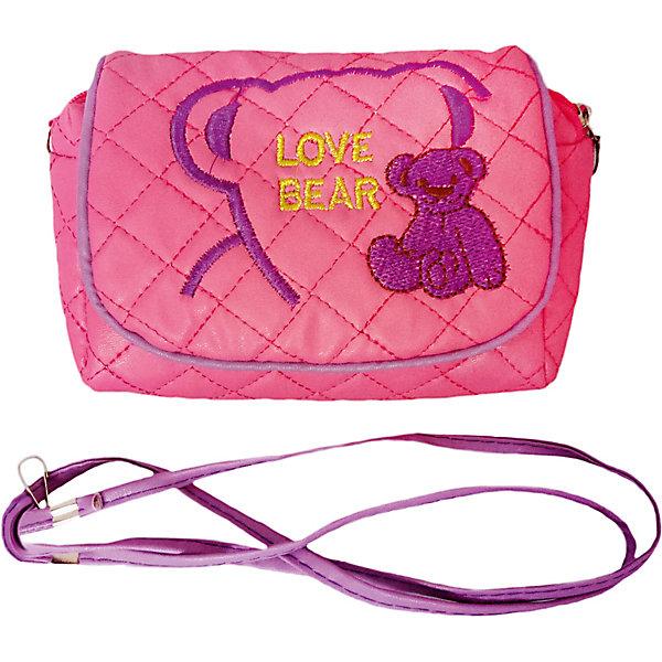 Наша Игрушка Сумочка Наша Игрушка Любимый мишка, темно-розовая игрушка