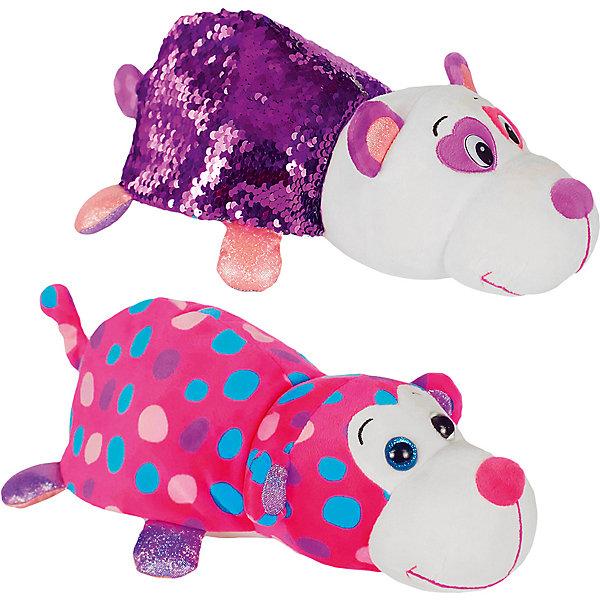 """Мягкая игрушка-вывернушка 1Toy """"Блеск с пайетками"""", Панда-Обезьянка, Разноцветный"""