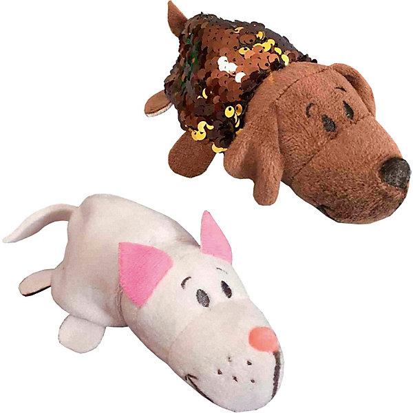 """Мягкая игрушка-вывернушка 1Toy """"Блеск с пайетками"""", Котик-Щенок, Разноцветный"""