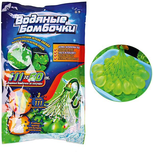 Junfa Toys Водяные бомбочки Junfa Toys с адаптером, 111 штук цена