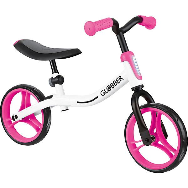 Купить Беговел Globber Go Bike, бело-розовый, Китай, розовый/белый, Унисекс
