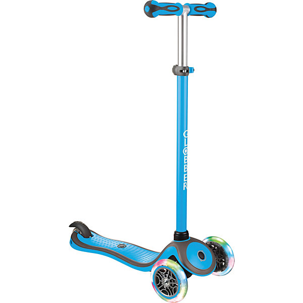 Купить Трехколесный самокат Globber Primo Plus Lights Color, светящиеся колеса, Китай, синий, Унисекс