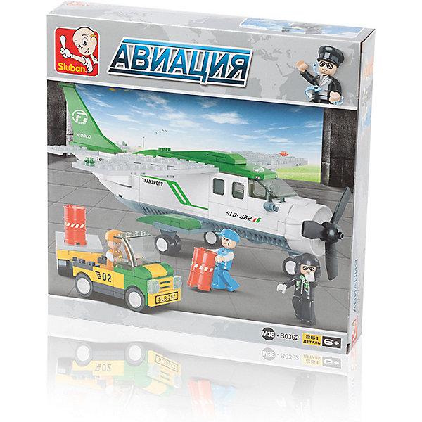 Купить Конструктор Sluban Авиация: Грузовой самолёт , 251 деталь, Китай, разноцветный, Мужской