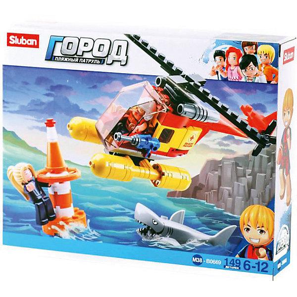 Sluban Конструктор Sluban Пляжные спасатели: Помощь с вертолёта, 149 деталей цена