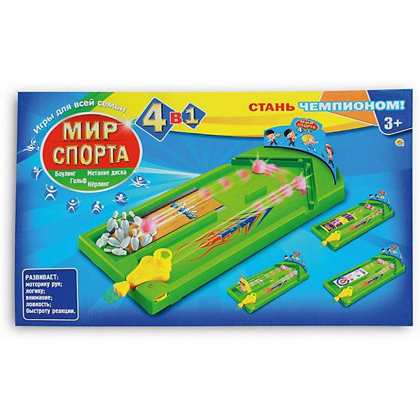 Рыжий кот Комплект настольных игр 4в1 Мир спорта