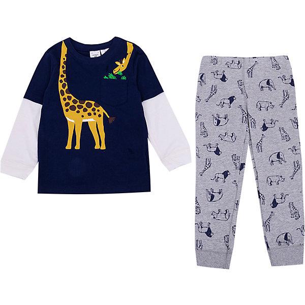 Купить Комплект Carter's: лонгслив и брюки, carter`s, Камбоджа, сине-серый, 80/86, 80/84, 72-78, Мужской